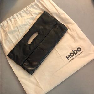 Hobo brand black leather clutch